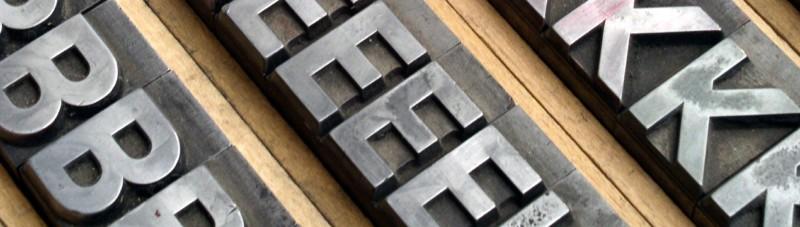 Printmedien, Print, Typografie